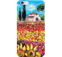 FLORA IN TUSCANY/ Fields ,Poppies and Sunflowers iPhone Case/Skin