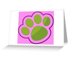 Puppy Paw Print. Greeting Card