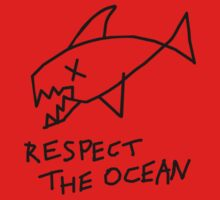 Respect the Ocean - Cool Grunge Mashup - White Version Kids Clothes
