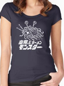 The Flying Ramen Monster Women's Fitted Scoop T-Shirt