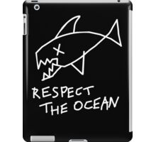 Respect the Ocean - Cool Grunge Mashup - Black Version iPad Case/Skin