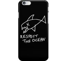 Respect the Ocean - Cool Grunge Mashup - Black Version iPhone Case/Skin