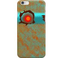 Decorative Art in Orange, Aqua, and Brown iPhone Case/Skin