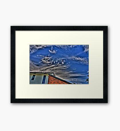 The corner of the Sky Framed Print