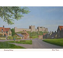 PAINTING - BAMBURGH CASTLE. Photographic Print