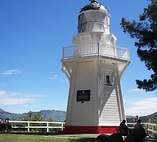 Lighthouse Akaroa  by Sandra  Sengstock-Miller