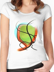 Red, Green, Blue Women's Fitted Scoop T-Shirt