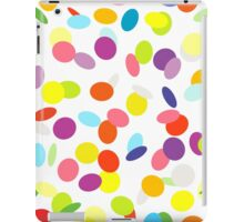 Joyful flying сonfetti on white. Design for a party. iPad Case/Skin