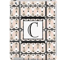 1920s Pink Champagne Gatsby Monogram letter C iPad Case/Skin
