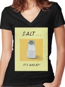 Salt! Women's Fitted V-Neck T-Shirt