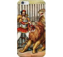 Vintage Lion Tamer iPhone Case/Skin