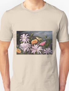 Spring Flowers Acrylic painting T-Shirt
