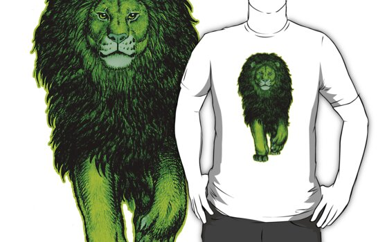 The Green Lion T-shirts by Cheerful Madness!! by cheerfulmadness
