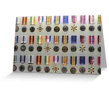 Australian War Medals Greeting Card