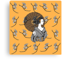 Vecta Geisha Canvas Print