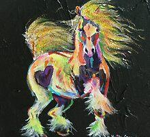 Gypsy Gold Pony by louisegreen