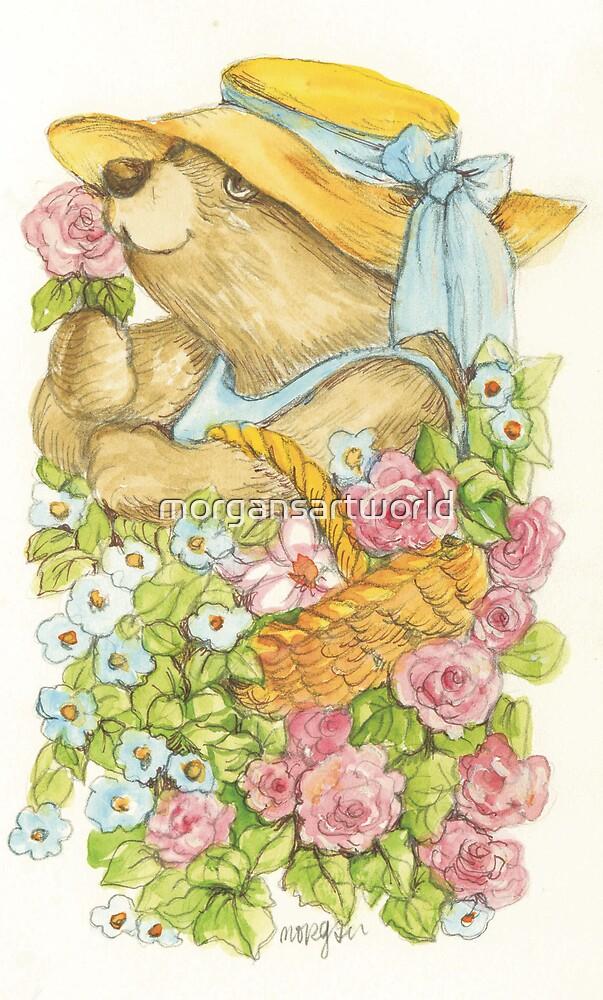 Teddy in the Garden by morgansartworld