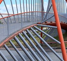 Red Steel Bridge Span by rhamm