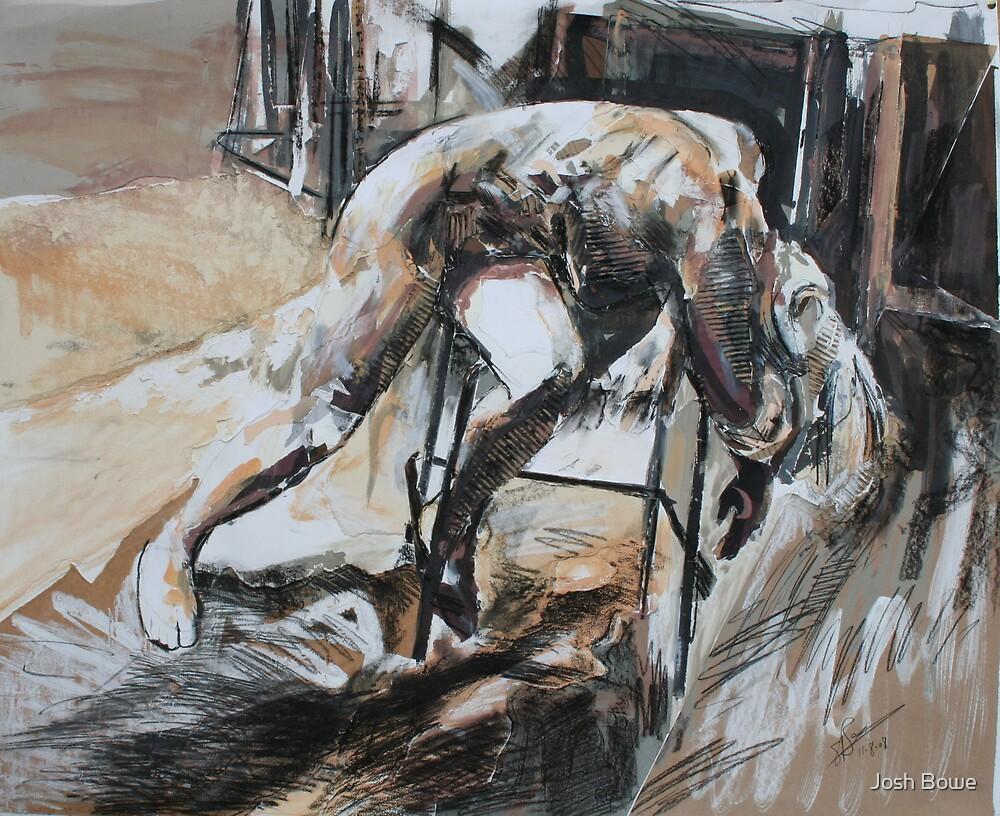 Slumped Figure Collage by Josh Bowe