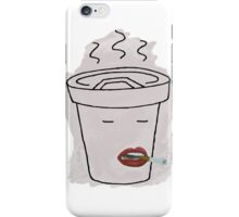 Coffee Mug Smoking a Cigarette iPhone Case/Skin