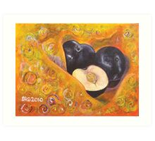 Summer Plums Art Print