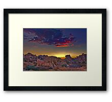 Deep Sunset Framed Print