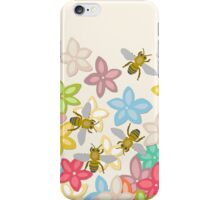 Indian Summer flowers and bees iPhone Case/Skin