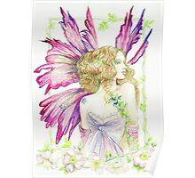 Fantasy Fairy Dianthus Poster