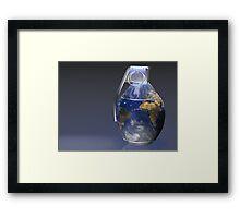 Earth Grenade Framed Print