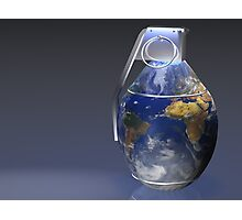 Earth Grenade Photographic Print
