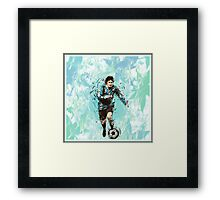 Messi Argentina Abstract Framed Print