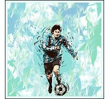 Messi Argentina Abstract Photographic Print