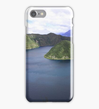 Volcanic Crater Lake Cuicocha iPhone Case/Skin