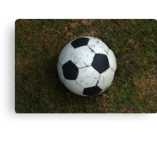 Soccer Ball on a Field Canvas Print