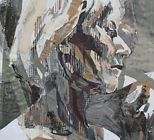 Portrait of Viv(Squares and Collage) by Josh Bowe