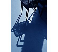a chair in blue Photographic Print