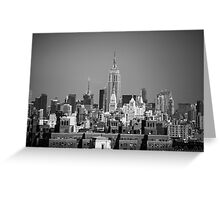Empire State Building from Brooklyn Bridge Greeting Card