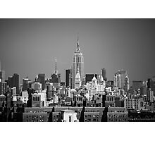 Empire State Building from Brooklyn Bridge Photographic Print