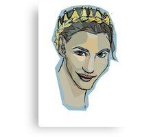 crown braid  Canvas Print