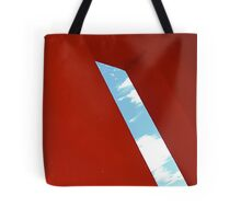 Red building - Magritte style Tote Bag