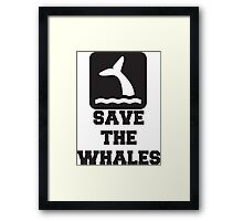 Save The Whales, Icon, Quote Framed Print