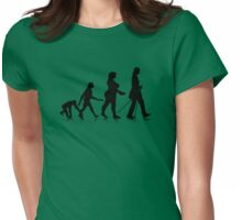 Human Evolution 8 Womens Fitted T-Shirt