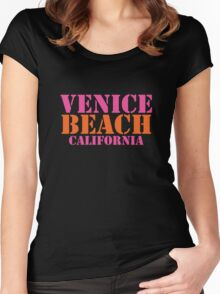 Venice Beach California Women's Fitted Scoop T-Shirt