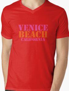 Venice Beach California Mens V-Neck T-Shirt