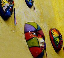 Hacienda Masks In Santiago Panama by Al Bourassa