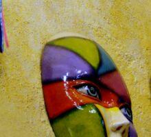 Hacienda Masks In Santiago Panama Sticker