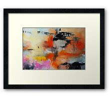 Abstract Orange Black Print from Original Painting  Framed Print