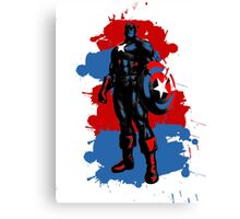 Captain America Paint Splatter Canvas Print