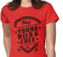 Young Wild Free Womens Fitted T-Shirt