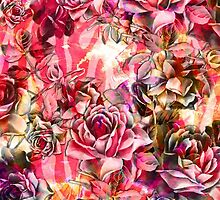 Pink Vintage Watercolor Roses by Blkstrawberry